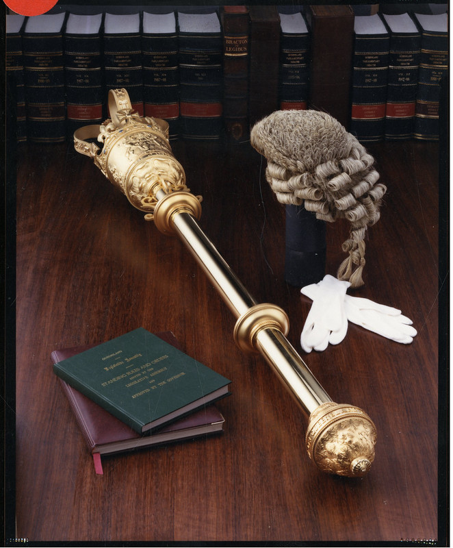 Queensland State Emblem, Ceremonial Mace and Parliamentary Wig