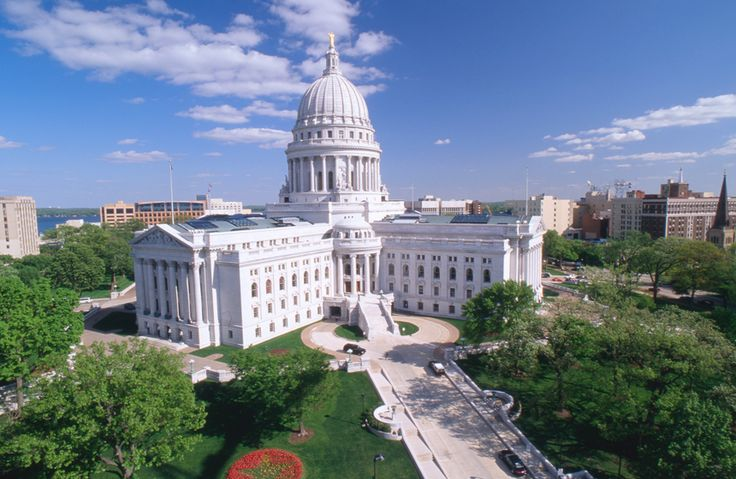 Wisconsin State Capitol in Madison, Wisconsin.