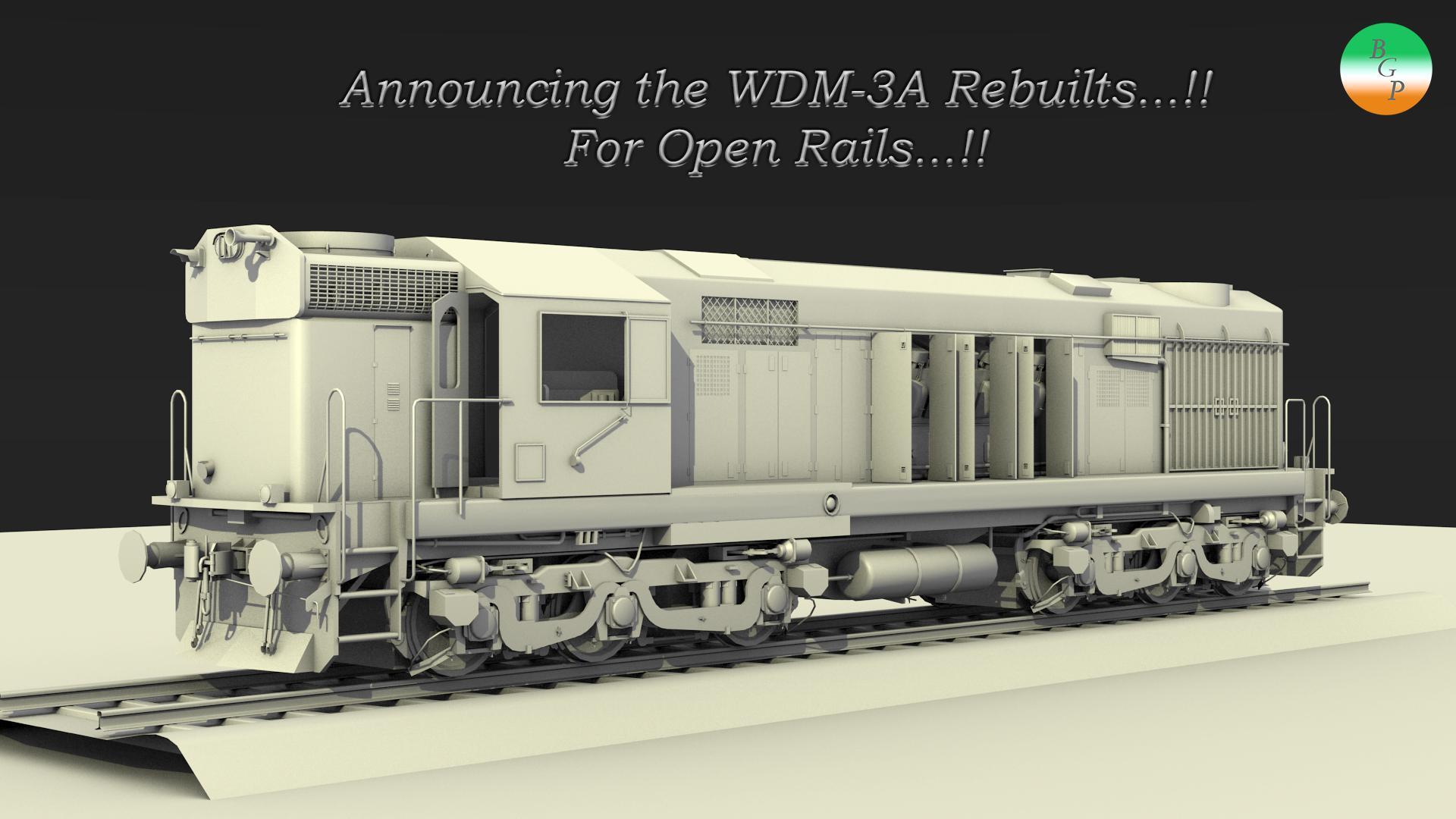 New Locomotive for Open Rails : WDM-3A Rebuilt
