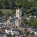 Aerial of St Edmundsbury Cathedral in Bury St Edmunds by John D Fielding
