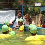 Meeting the girl swim students - Cox