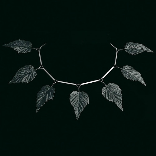 Sculpted Paper Leaf Necklace