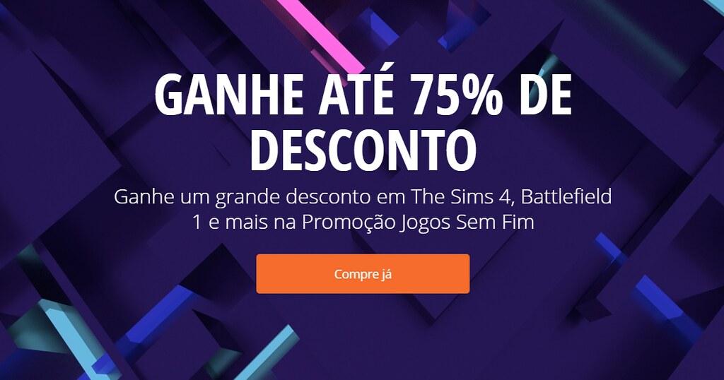 Foto de Promoção no Origin com até 75% de Desconto nos Jogos