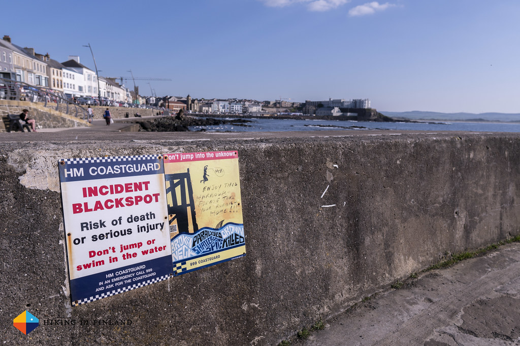 Sign at Portstewart Harbour