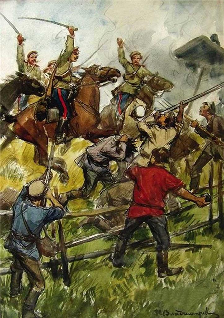 俄国内战与革命的写实绘画11