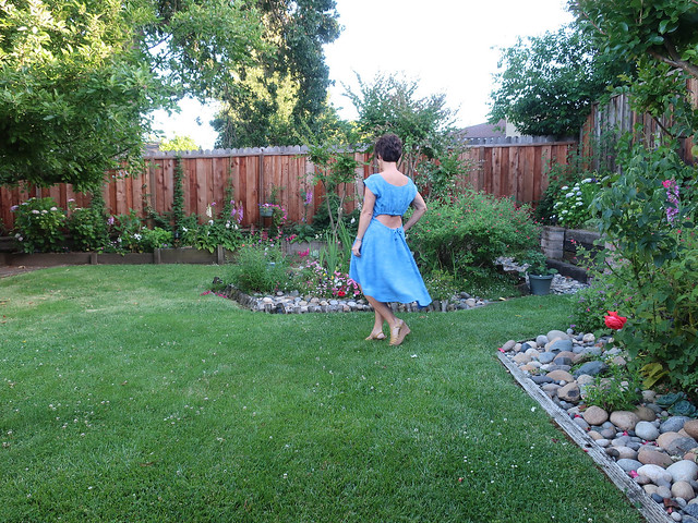 blue rayon dress with breeze1