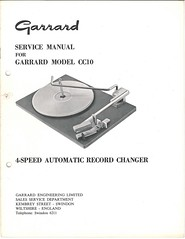 Garrard TechEng Service Manual CC10