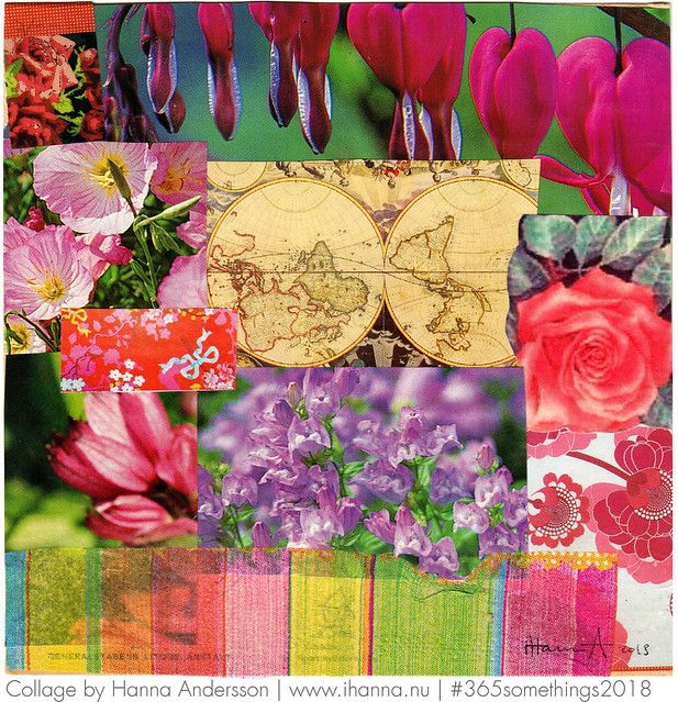 The World is my Garden - Collage no 93 of 365 collages in 2018 by iHanna #365somethings2018 #art
