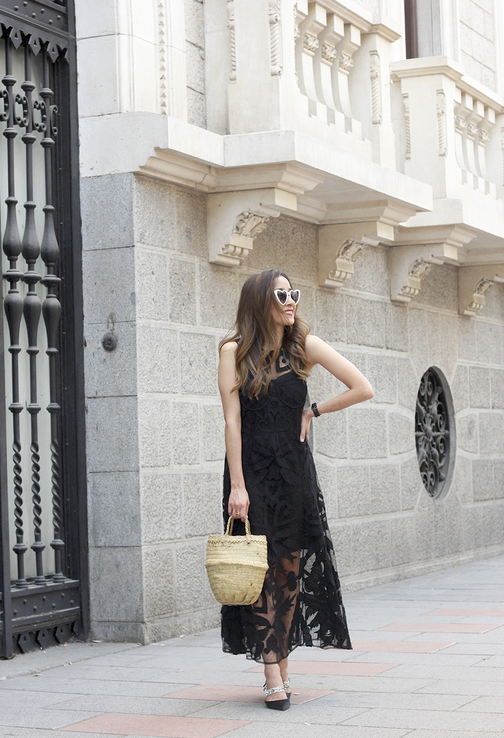 black lace maxi dress summer outfit 2018 12