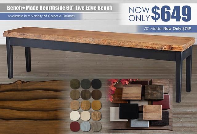 Farm House Bench Made Live Edge Bench 60_70_4015