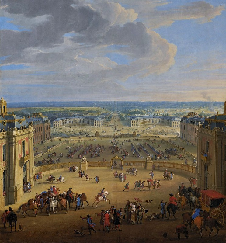 Jean-Baptiste Martin - The Stables Viewed from the Château at Versailles (1688)