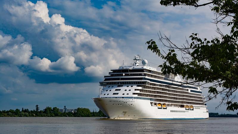 Départ du Seven Seas Explorer - Port Lagrange, 27 mai 2018.