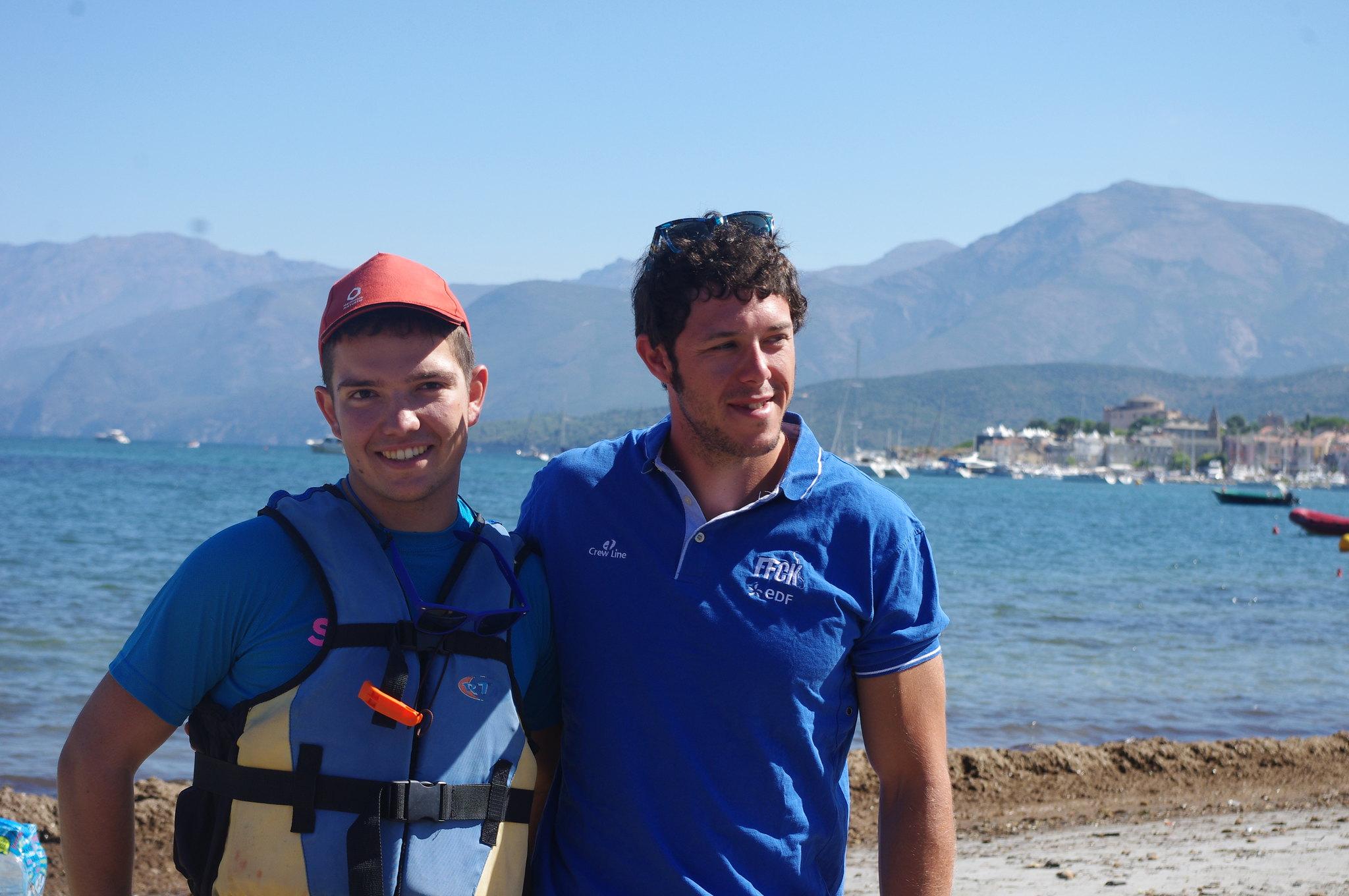 Armand et Damien champion du monde sprint 2015 kayak de rivière