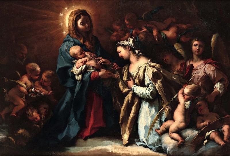 Alessandro Gherardini - Madonna con Bambino e Santa Caterina da Alessandria