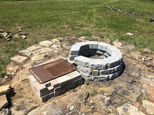 New fire pit and grilling station