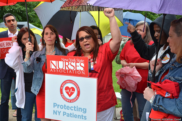 "New York Nurses Rally For ""Safe Staffing Ratios"" (5)"