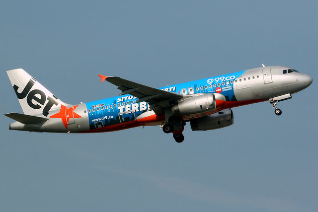 Jetstar Asia | Airbus A320-200 | 9V-JSH | 99.co livery | Singapore Changi