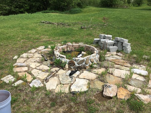 Fire pit before demolition