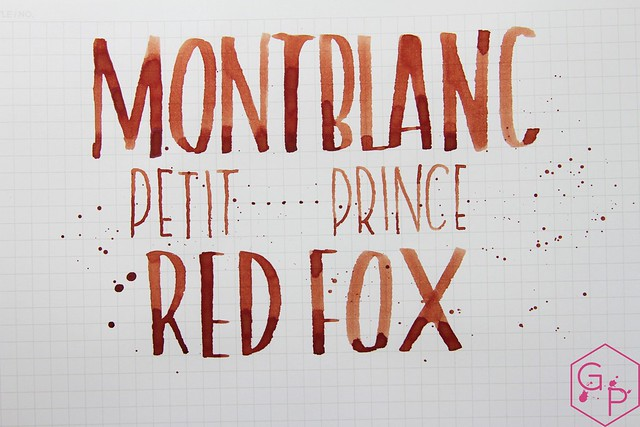 Montblanc Le Petit Prince Red Fox Ink Review @AppelboomLaren @Montblanc_World 14