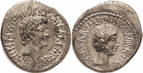MARK ANTONY and OCTAVIAN, coin
