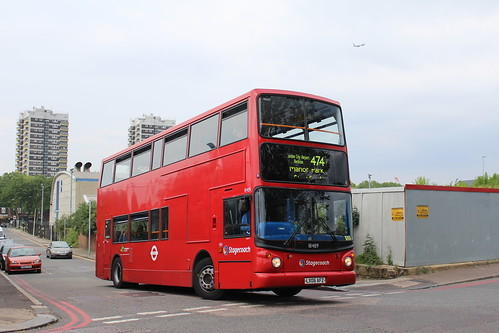 Stagecoach London 18489 on Route 474, North Woolwich