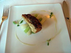 CHATEAU D'ETOGES, MENU GOURMANDE, ROAST TURBOT WITH SESAME CRUST, LEEKS AND ASIAN STYLE VINAIGRETTE 007 - Photo of Beaunay