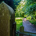 Newark Park carved gatepost