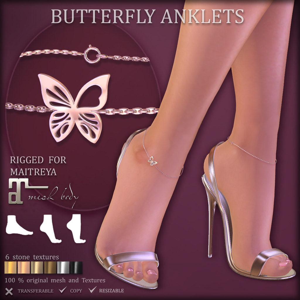 BUTTERFLY Anklets (at COSMOPOLITAN)