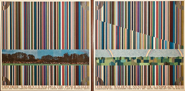 Photo:Concord, Walden I and Walden II (1971) - Tom Philips (1937) By pedrosimoes7