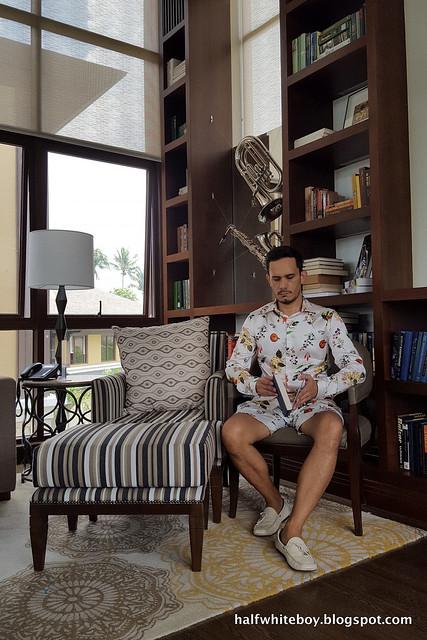 halfwhiteboy - matching satin printed shirt and shorts 06
