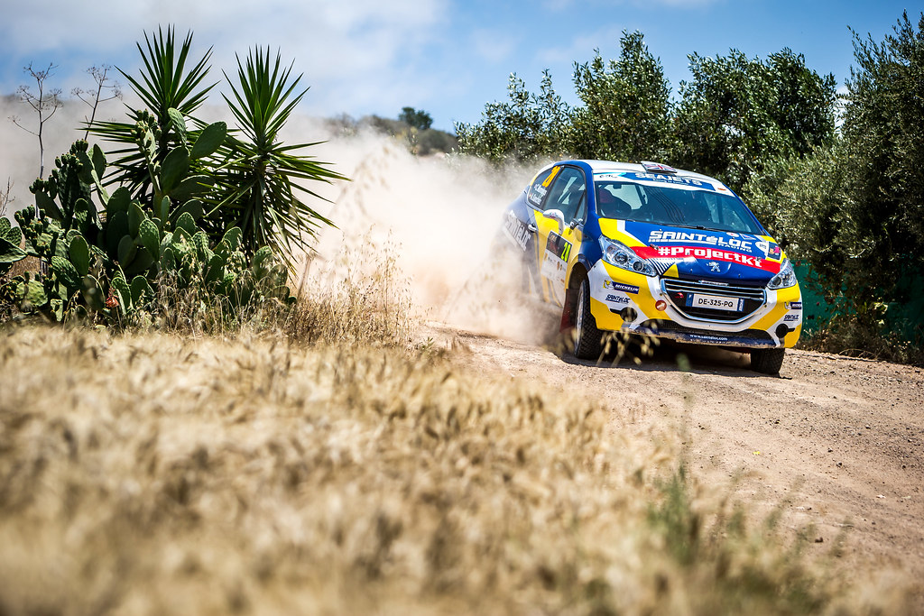 28 MUNNINGS Catie (GBR), SANCHEZ Alba (SPA), SAINTELOC JUNIOR TEAM, PEUGEOT 208, action during the 2018 European Rally Championship ERC Cyprus Rally,  from june 15 to 17 at Larnaca, Cyprus - Photo Thomas Fenetre / DPPI