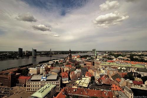 riga landscape latvija latvia sky cityscapes europe wiev oldtown ригалатвия панорамное panoramica city travel