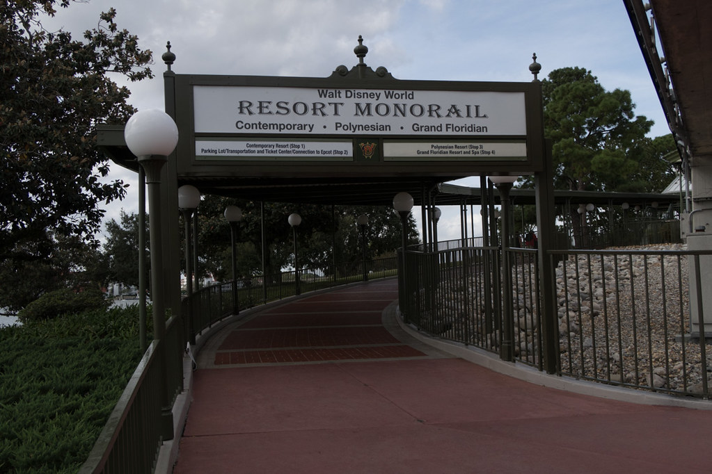 Disney Resort Monorail Sign