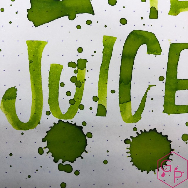 @RobertOsterInk Lime Juice Ink Review @MilligramStore 5