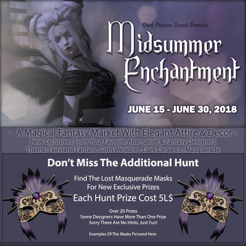 Midsummer Enchantment 2018 – Hunt Information