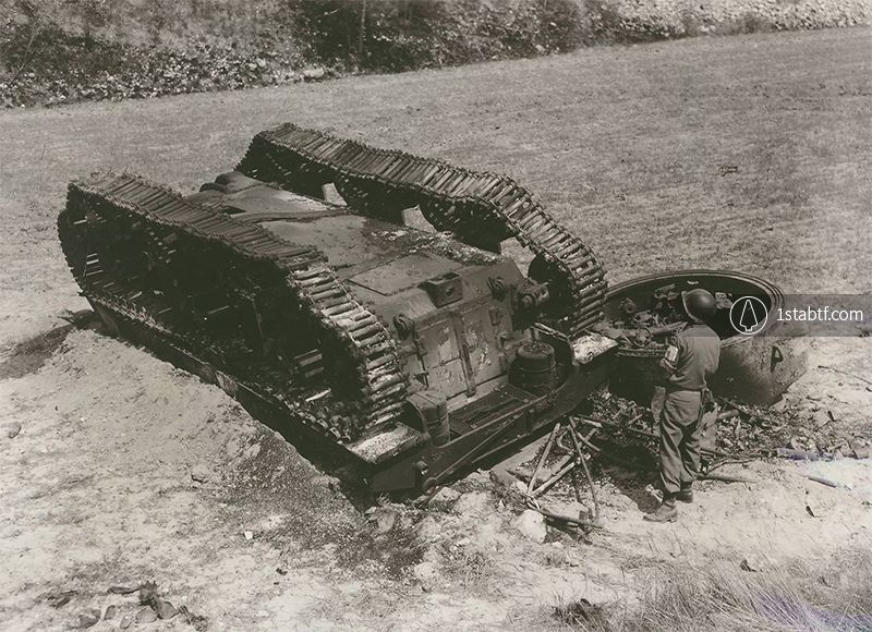 191st-tank-battalion-burned-sherman