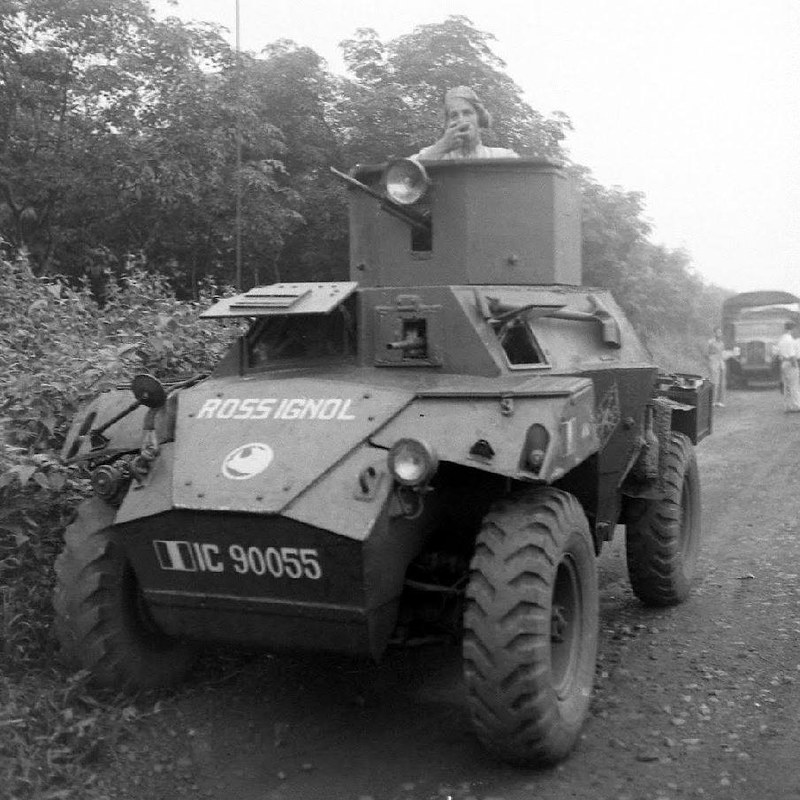 Humber Scout Car modified by the arsenal of Saigon - Indochina - 1948 - Jack Birns - LIFE