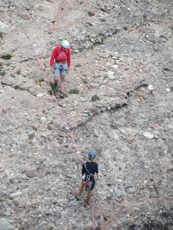 Escaladores en montañas de MontserratMiranda de Sant AntoniIMG_2662