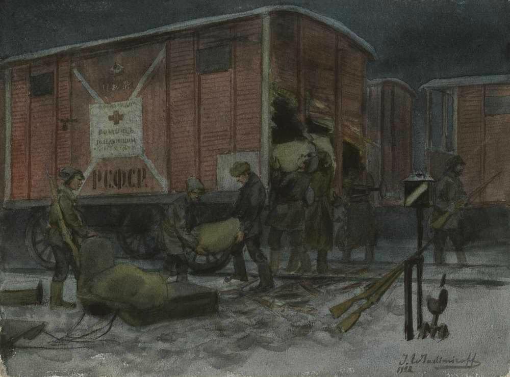 俄国内战与革命的写实绘画23