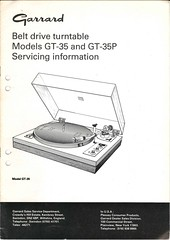 Garrard TechEng Service Manual GT-35 GT-35P
