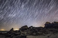 Star Trails Over Obsidian Butte