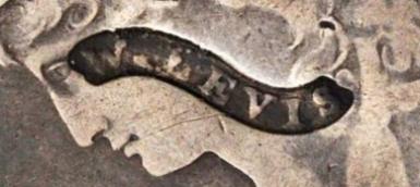 W. LEVIS Counterstamp closeup