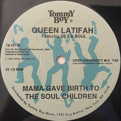 QUEEN LATIFAH:MAMA GAVE BIRTH TO THE SOUL CHILDREN(LABEL SIDE-B)