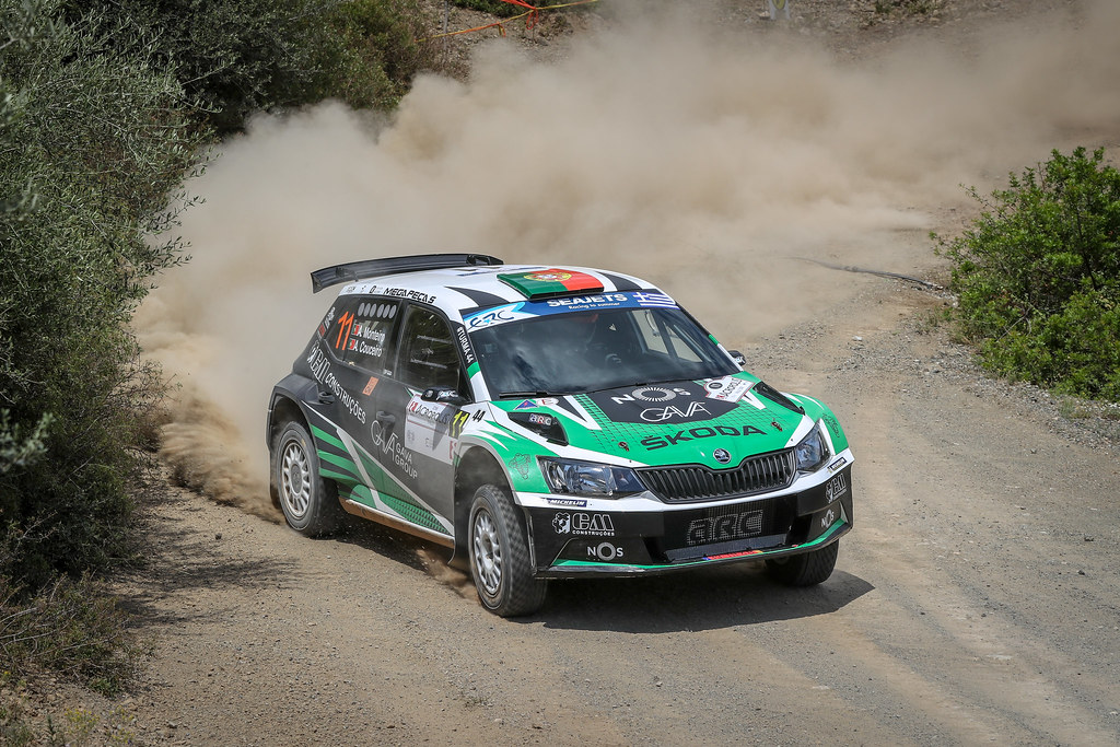 11 MONTEIROI  Aloisio (prt),  COUCEIRO Andre (prt), Skoda Fabia R5, action during the European Rally Championship 2018 - Acropolis Rally Of Grece, June 1 to 3 at Lamia - Photo Alexandre Guillaumot / DPPI