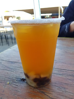 Peach Iced Tea with Pearls and Lychee Jelly at Mt Gravatt Marketta