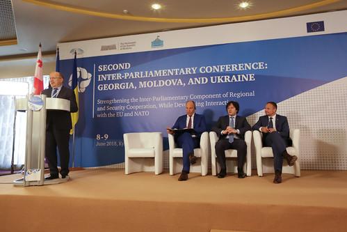 09.06.2018 Cea de-a doua conferință interparlamentară de nivel înalt Georgia, Moldova și Ucraina: Consolidarea componentei interparlamentare a cooperării regionale și în domeniul securității, prin dezvoltarea colaborării cu UE și NATO