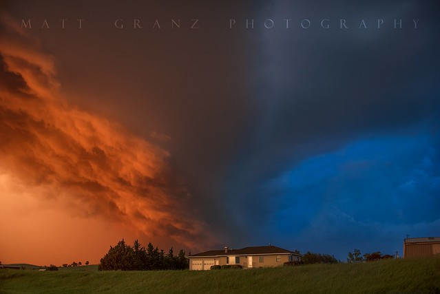 The Golden Blue Hour Storm