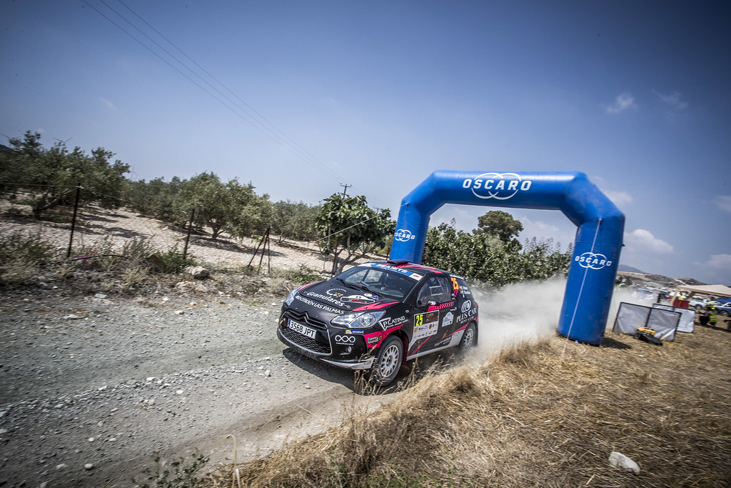 25 FALCON RODRIGUEZ Emma Maria (ESP), GONZALEZ DELGADO Eduardo (ESP), EMMA MARIA FALCON RODRIGUEZ, CITROEN DS3 R3T, action during the 2018 European Rally Championship ERC Cyprus Rally,  from june 15 to 17  at Larnaca, Cyprus - Photo Gregory Lenormand / DPPI
