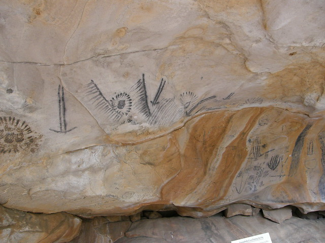 Aboriginal Painting at Site 1 / Yourambulla Caves, South Australia