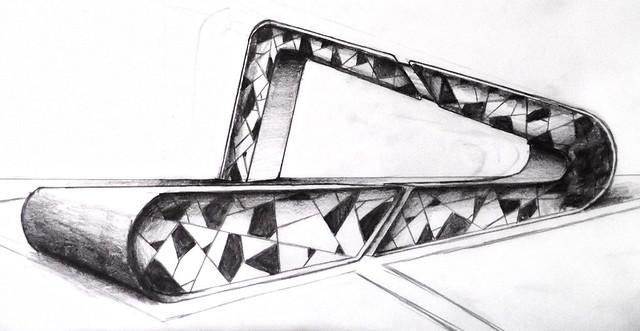 Los dibujos conceptuales o bocetos en arquitectura